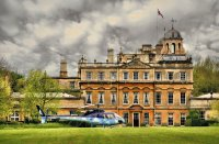 helicopter at Badminton House