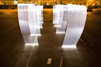 solid trace light sculpture