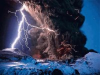 eruption with lightning