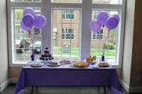 Purple Party Table