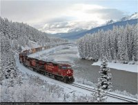 Canadian Pacific train  in Wintertime