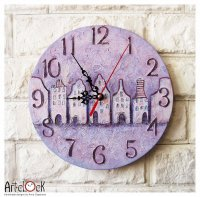 Purple Art Deco Clock