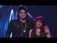 its adam lambert on idol with allison
