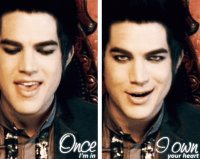 adam lambert in his video entertainment
