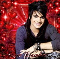 adam lambert with love in the backround