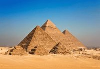 Pyramids of Cheops  Gizeh  Egypt