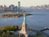 Statue of Liberty, Yersey city and Hudson river