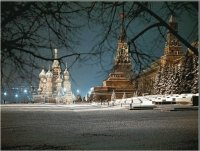Red Square in Wintertime  Moscow