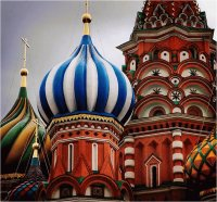 Part of Basilius Cathedral  Moscow