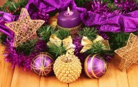 Purple and Golden Ornaments