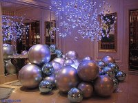 Decorating with Purple Pearl Balls