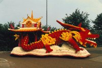 Flower parade Lichtenvoorde Chinese Dragon