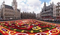 Floral carpet on the Grand Place in Brussels, Belg