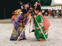 Young Japanese Girls with a Camera