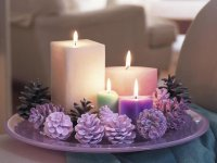 Christmas Candles   Lavender Pine Cones