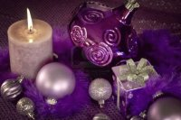 Purple Christmas Table Decor