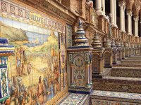 Beautiful Mosaic  Sevilla  Spain