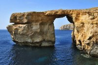 Rocks in the See Gozo Island  Malta