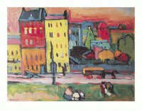 Wassily Kandinsky  Houses of Munich