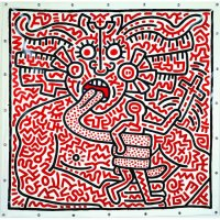 Painting Keith Haring