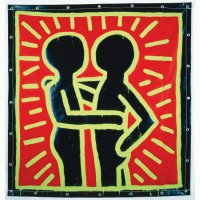 Painting Keith Haring Two People