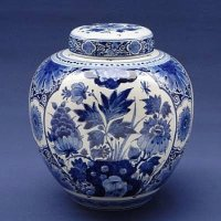 Delfts Blue Jar with Lid    made by Royal Delft