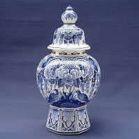 Delfts Blue Vase with Lid made by Royal Delft