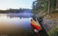 Canoe on Pinetree Lake