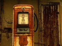 Weathered Petrol Pump  Louisiana  USA