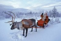 Santa with Rendeer