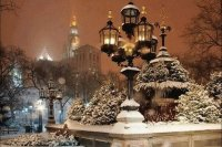 New York Christmas in the snow