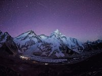 Night Stars over the Mount Everest