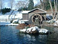Waterwheel fence in Wintertime