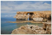 Azure window Rock Gozo Island  Malta