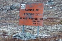 Warningsign for  Ice  Bears  Artic Circle