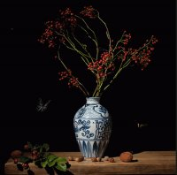 Still life Vase and Berrys