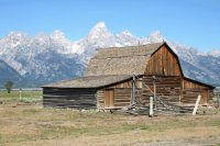 Old Barn in Wyoming  USA