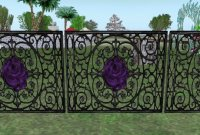 Purple Rose Fence
