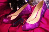 Sparkley Christmas Glitter Shoes