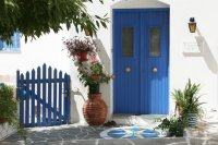 House entrance  Paros  Greece