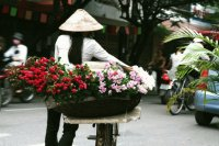 Women with Flowers  Hanoi  Vietnam