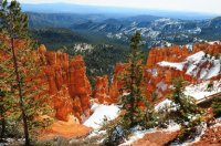 Bryce Canyon National Park in Winter  Utah
