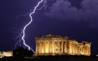 The Parthenon during a Thunderstorm