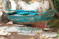 Old Boat in Loutro  Crete   Greece