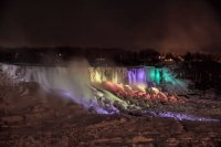Night -Niagara Falls frozen 1-12-14