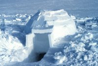 Inuit Igloo above the Artic Circle