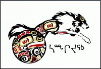 Inuits tribal art  Wolf