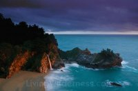 Stormy Sunset Over McWay Falls-Big Sur