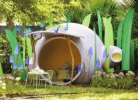 Giant Lavender Tea Pot Play House-Florida