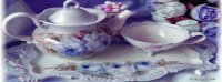 Pretty Purple Tea Set
